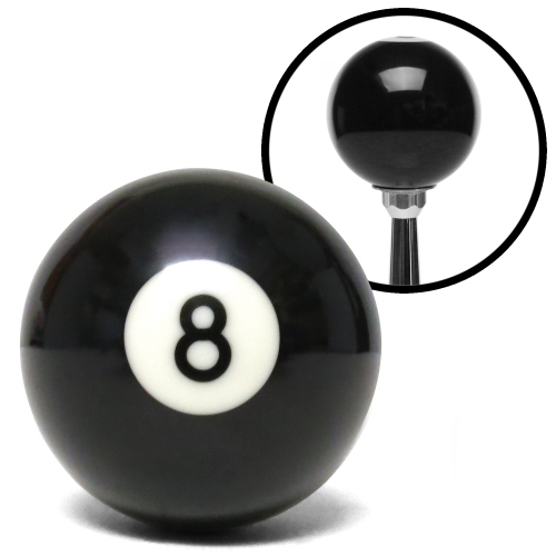 8 Ball Billiard Pool Custom Shift Knob with Standard Hardware Pack instructions, warranty, rebate