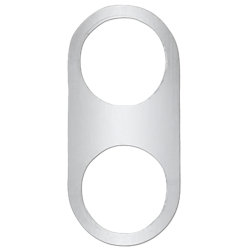 Keep it Clean Daytona 2 Billet Button Plate Medium Size - Part Number: KICBBP12
