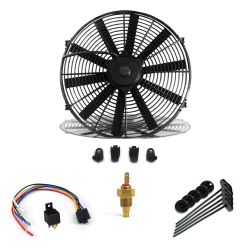 "Zirgo Super Cool Pack 1149 fCFM 10""  Fan, Fixed Temp Switch, Harness, and Brackets and Additive - Part Number: ZIRZFK110N1"