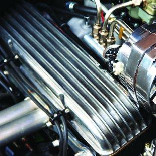 4 Port Finned Fuel Distribution Log Block VPAFDBA4 classic parts usa hot rod