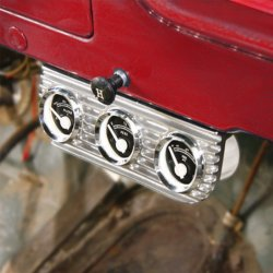 Finned Gauge Bezels - Part Number: 10015522