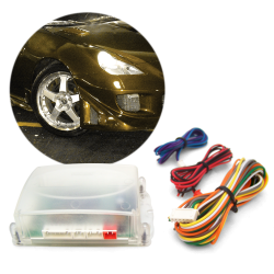 AutoLoc IONBSH112 Bulb Two Ion HID 12,000 Color Temp H1 Single Stage Bulbs with Plug N Play Wire Harness