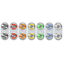 Silver Daytona Billet Switches - Part Number: 10015227