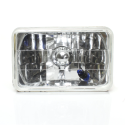 "Snake-Eye 4""x 6"" Headlight Assembly w/ Long Life  H4 bulb 4656 4651 - Part Number: AUTLENE1AB"
