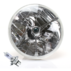 "Tri-Bar 7"" Inch Halogen Lens Assembly w/ H4 bulb - Part Number: AUTLENB1AB"