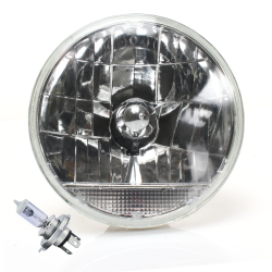 "Snake-Eye 7"" Inch Lens Assembly w/ H4 bulb and Clear Turn Signal - Part Number: AUTLENA2AB"