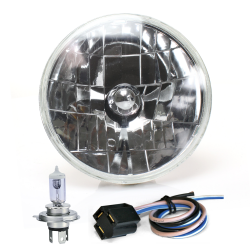 Snake-eye 7 Inch Halogen Lens Assembly w/ H4 bulb and Plug - Part Number: AUTLENA1AK