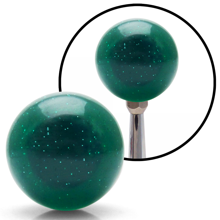 American Shifter 83619 Sparkle Green Metal Flake Shift Knob with 7//16-14 Insert Round Metal Flake