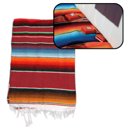Hot Rod Interior Kit - RED Authentic Mexican Indian Blanket - Part Number: VPAINTRD