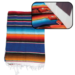 Hot Rod Interior Kit - Blue Authentic Mexican Indian Blanket - Part Number: VPAINTBL