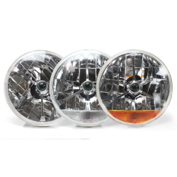Tri-Bar Round Headlights - Part Number: 10015457