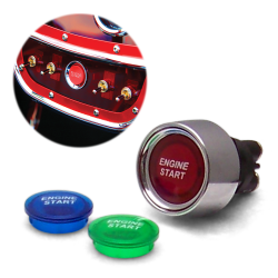 3 Color Illuminated Push Button Start Switch - Part Number: KICPUSHB