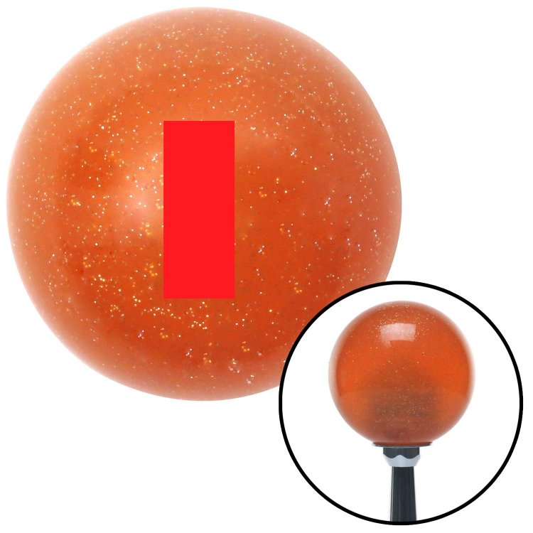Red First Lieutenant /& Second Lieutenant American Shifter 44393 Orange Metal Flake Shift Knob with 16mm x 1.5 Insert