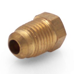 "1/4"" SAE Flare Plug Air Fitting - Part Number: HEXAFG14S"