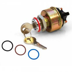 Ignition Switch with Retro Bezal and 4 Color Bands - Part Number: KICBKWAS2