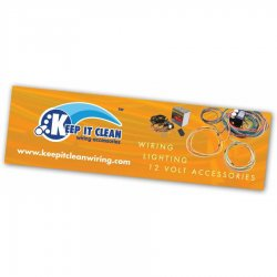 "36"" X 120"" Keep It Clean Logo Color Banner - Part Number: KICPROA002"