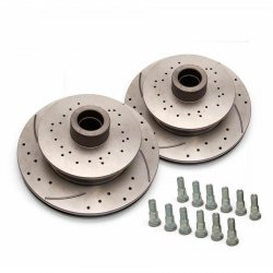 "Helix SureStop 11"" 6x5.5 Drilled Slotted Rotors - Pair - Part Number: HEXBR13"