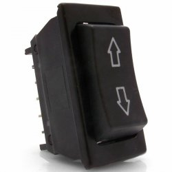 Illuminated 3 Position Rocker Switch with Arrows - Part Number: KICSW2
