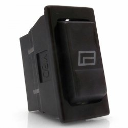 Illuminated 3 Position Rocker Switch with Window Icon - Part Number: KICSW3