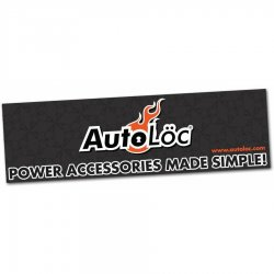 "36"" X 120"" Autoloc Logo Color Banner - Part Number: AUTPROA002"