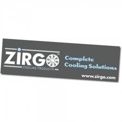 "36"" X 120"" Zirgo Logo Color Banner - Part Number: ZIGPROA002"