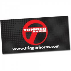 "24"" X 48"" Trigger Horn Logo Color Banner - Part Number: TRGPROA001"