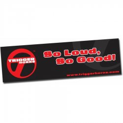 "36"" X 120"" Trigger Horn Logo Color Banner - Part Number: TRGPROA002"