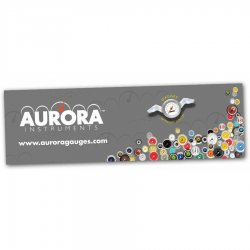 "36"" X 120"" Aurora Logo Color Banner - Part Number: AURPROA002"