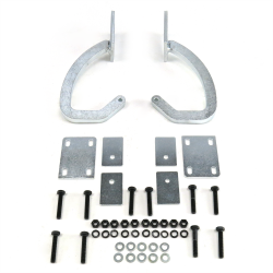 Universal Paintable / White Zinc Plated Trunk Hinge Kit - Part Number: AUTTRH