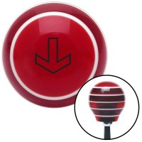 American Shifter 322533 White Rally Stripe 5 Speed Pattern Red Shift Knob with M16x1.5 Insert