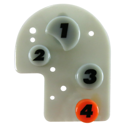 Number Remote Button Pad - Part Number: AUTTRBTN2