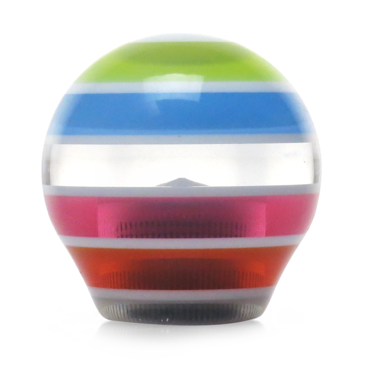 American Shifter 15626 Multi-Color Super Stripe Suicide Brody Knob