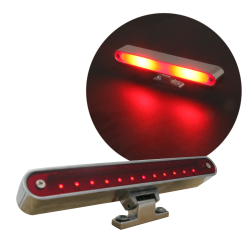 Billet LED 3rd Brake Light with Turn Signal - Part Number: AUTLED3B1