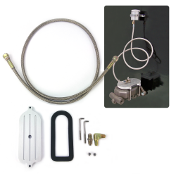 Remote Brake Reservoir Cap and Hose for Mustang Master Cylinder - Part Number: HEXMCRR1