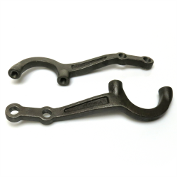 "Helix™ 1928-1934 Ford Heavy Cast 1.75"" Drop Steering Arm Set - Pair - Part Number: HEXSTARM3"