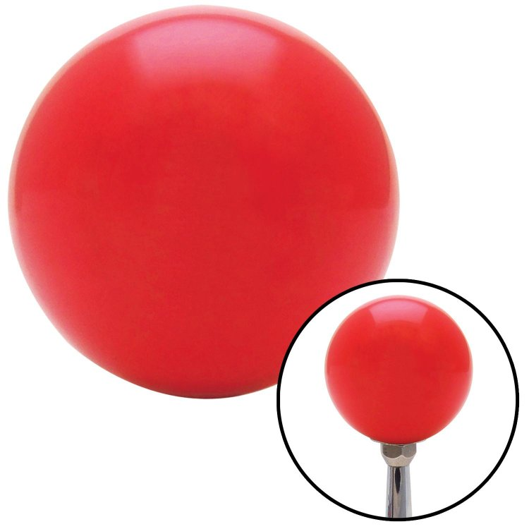 American Shifter 235669 Red Flame Metal Flake Shift Knob with M16 x 1.5 Insert Orange Transfer Case #1