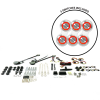 Universal Power Window Kits With Silver Retro Billet Switches - Part Number: 10145087