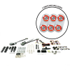 Universal Power Window Kits With Silver Daytona Billet Switches  - Part Number: 10145085