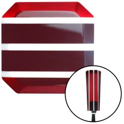 Red Stripe Stix Shift Knob with Set Screw Insert - Part Number: ASCSNX122277