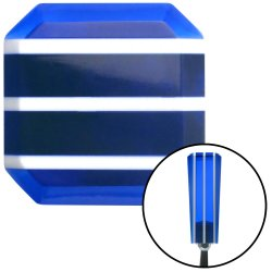 Blue Stripe Stix Shift Knob with M12 x 1.75 Insert - Part Number: ASCSNX122285