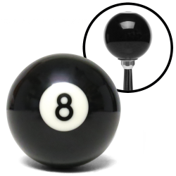 8 Ball Billiard Pool Custom Shift Knob with Standard Hardware Pack - Part Number: ASCSN03008WHP