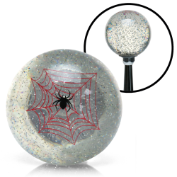 Clear Spider Custom Shift Knob Translucent with Metal Flake - Part Number: ASCSN09003