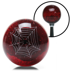 Red Spider Custom Shift Knob Translucent with Metal Flake - Part Number: ASCSN09004