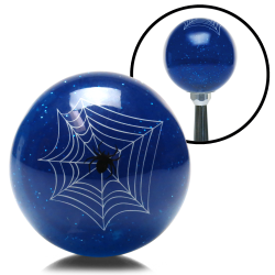 Blue Spider Custom Shift Knob Translucent with Metal Flake - Part Number: ASCSN09005