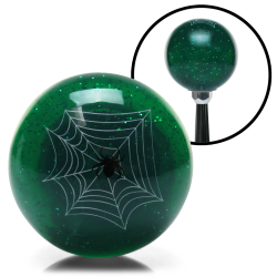 Green Spider Custom Shift Knob Translucent with Metal Flake - Part Number: ASCSN09007