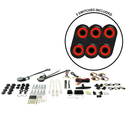 Universal Power Window Kits With Black Daytona Billet Switches - Part Number: 10015254