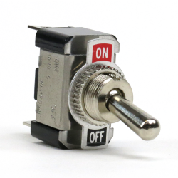 Heavy-Duty Toggle Switch - Chrome 20a/12vdc - Part Number: KICSW20