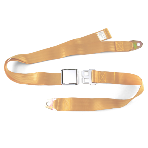 2pt Peach Airplane Buckle Lap Seat Belt w/ Flat Plate Hardware instructions, warranty, rebate