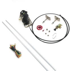 Heavy Duty Power Windshield Wiper Kit with Switch and Harness - Part Number: AUTWIPER