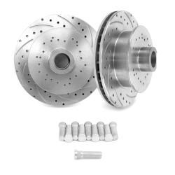 "Helix SureStop Drilled and Slotted 11"" Rotors - UniLug U Drill- 1 Pair - Part Number: HEXBR10"
